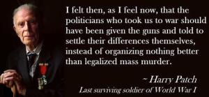 Harry Patch on war